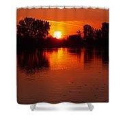Ottawa River Sunrise Shower Curtain