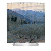 Sunrise Umbria 1914 Shower Curtain