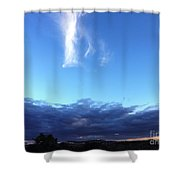 Sunrise White Cloud Shower Curtain