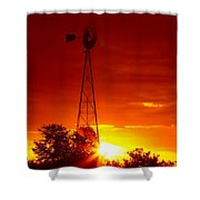 Sunrise Windmill 1 A Shower Curtain