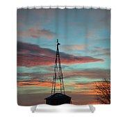 Sunrise Windmill Shower Curtain