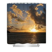 Sunrise With Clouds St. Martin Shower Curtain