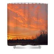 Sunrise With Horses Shower Curtain
