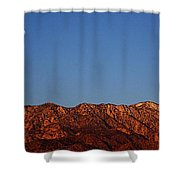 Sunrise With Moon Setting On San Jacinto Mountains Shower Curtain