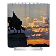Sunrise With Saint Louis The 9th Shower Curtain