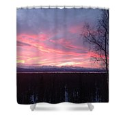 Sunrise With Tree Shower Curtain