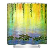 Sunrise With Water Lilies Shower Curtain