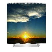 Sunset @ Chesapeake Bay-2 Shower Curtain