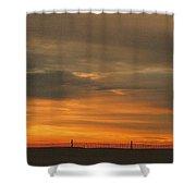 Sunset 1013 Shower Curtain by David Dehner