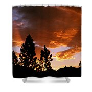 Bitterroot Valley Sunset Shower Curtain