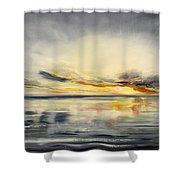 Sunset 384 Panoramic Shower Curtain