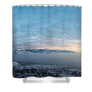 Sunset Above The Smog  Shower Curtain