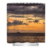Romantic Sunset Adventure Shower Curtain