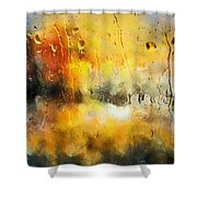 Sunset After The Storm Abstract Shower Curtain