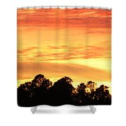 Sunset And Beautiful Clouds Shower Curtain