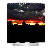 Sunset And Clouds Shower Curtain