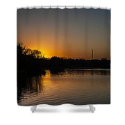 Sunset And Contrails Shower Curtain