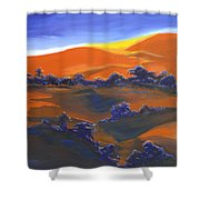 Sunset And Shadow Shower Curtain