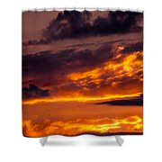 Sunset And Storm Clouds Shower Curtain