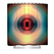 Sunset And Water Spin Art 12 Shower Curtain