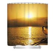 Sunset And Wine Shower Curtain