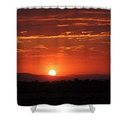 Sunset Antelope Valley B 7-28-2014 Shower Curtain