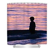 Sunset Art - Contemplation Shower Curtain