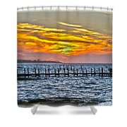 Sunset Art Outer Banks Shower Curtain
