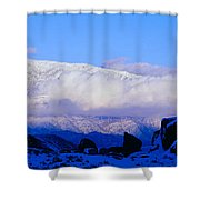 Sunset At Alabama Hills And Inyo Shower Curtain