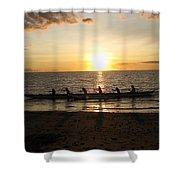 Sunset At Anaeho'omalu Bay Shower Curtain