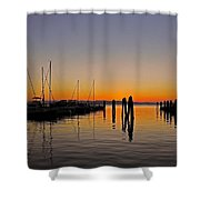 Sunset At Burlington Bay - Vermont Shower Curtain