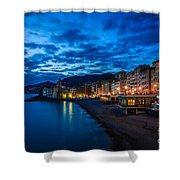 Sunset At Camogli In Liguria - Italy Shower Curtain