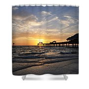 Sunset At Clearwater Shower Curtain