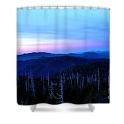 Sunset At Clingman's Dome Shower Curtain