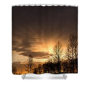 Sunset At Columbia River Gorge Oregon Shower Curtain
