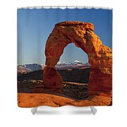 Sunset At Delicate Arch Shower Curtain