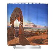 Sunset At Delicate Arch Utah Shower Curtain