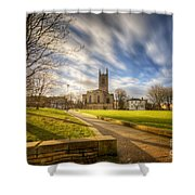 Sunset At Derby Cathedral Park Shower Curtain