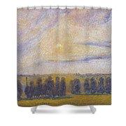 Sunset At Eragny, 1890 Shower Curtain