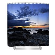 Sunset At Fort Getty Shower Curtain