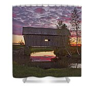 Sunset At Foster Bridge Shower Curtain
