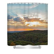 Sunset At Garden Of The Gods Shower Curtain