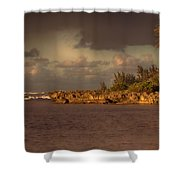 Sunset At Haleiwa Beach Oahu Hawaii V3 Shower Curtain