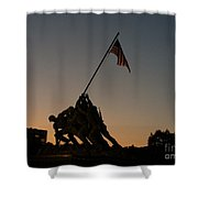 Sunset At Iwo Jima  Shower Curtain