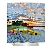 Sunset At James Farm Ocean View Delaware Shower Curtain