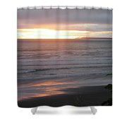 Sunset At Kalaloch Shower Curtain