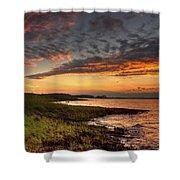 Sunset At Kent Narrows Shower Curtain