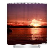 Sunset At Lake Of The Woods Shower Curtain