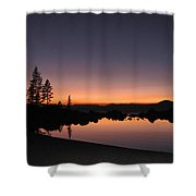 Sunset At Lake Tahoe Shower Curtain