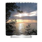 Sunset At Lake Winnipeg Shower Curtain